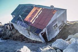 Image result for IMAGE OF HOUSE FALLING INTO SEA