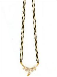 diamond mangalsutra black beads chain