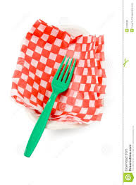 fast food paper tray and fork royalty stock photos image fast food paper tray and fork