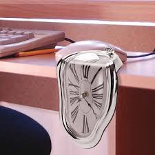 melting desk clock