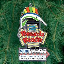 Light Up Pensacola Beach Sign Ornament Home