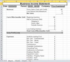 excel income statement simple business income statement template excel templates