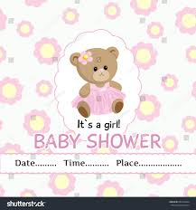 baby shower invitations for girls templates vector template baby girl arrival baby stock vector 682653964