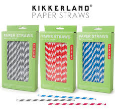 compostable paper straws from kikkerland  mercantile highlights