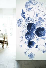 Fotobehang Royal Blue Flowers Kek Amsterdam Wallpaper Behang