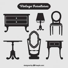 vintage furniture logo. Unique Vintage Silhouettes Of Vintage Furniture Free Vector In Vintage Furniture Logo E