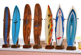 miniature replica surfboards custom made by martin geary