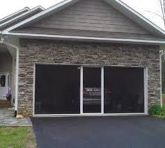 garage screen door slidersThe Big Breezy Garage Screen with Sliding Door