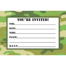 Birthday Invitations Free Download Inspiration Camouflage Birthday Invitations Printable Free Download Birthday
