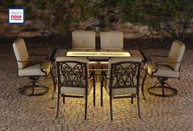 La Z Boy Outdoor DHLY 7PC Halley 7pc Dining Set with Lighted