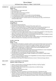 Supply Officer Resume Samples Velvet Jobs