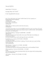 Cover Letter Assembler Resume Examples Mechanical Assembler Resume