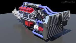 3D-Computer-Modell: 350 CHEVROLET V8 TWIN TURBO Motor - YouTube