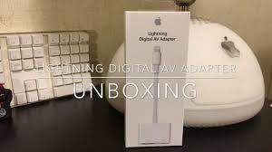 apple lightning digital av adapter unboxing