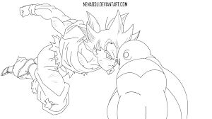 Dragon Ball Super Goku Ultra Instinct Coloring Pages