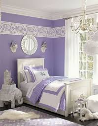Girl's Dreamy bedroom: Paired with bright white, the color lavender looks  even more elegant
