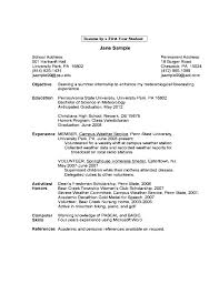 resume examples high school student first resume samples free basic template for job examples