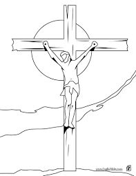 Printable Coloring Pages coloring pages of the cross : Crucifixion of jesus coloring pages - Hellokids.com