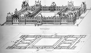 architecture building drawing. Project For Enlargement Of The Tuileries Palace (1578\u201379) Architecture Building Drawing
