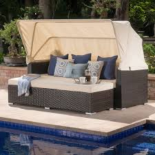 Brayden Studio Welsh Outdoor Wicker Daybed with Cushions & Reviews ...