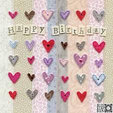 Hearts Happy Birthday Card Karenza Paperie