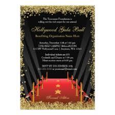 charity event invitations & announcements zazzle co uk Wedding Invitations Charity Uk hollywood gala ball red carpet glitter card wedding invitations charity uk