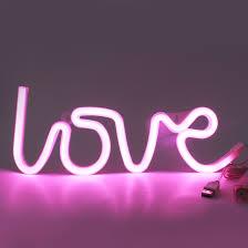 Buy Creative Led Love Letter Neon Night Light Wall Lamp Valentine