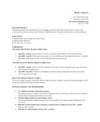 How To Write A Resume For Highschool Students How To Write A Job