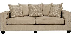 Cindy Crawford Home Sidney Road Taupe Sofa
