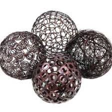 Decorative Metal Balls Modern Sphere Table Decor Decorative Metal Wire Spheres 6