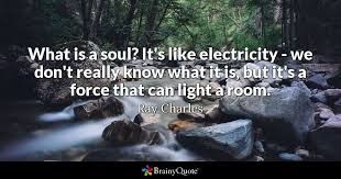Really Good Quotes 69 Inspiration What Is A Soul It's Like Electricity We Don't Really Know What It