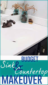 budget friendly sink and countertop diy makeover i m flying south featured on