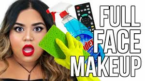 FULL FACE USING ONLY HOUSEHOLD ITEMS Challenge YouTube