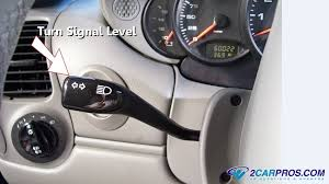 how to fix turn signal problems in under minutes use a test light to test input and output power circuits using a wiring schematic learn more a wiring diagram in google images turn signal lever