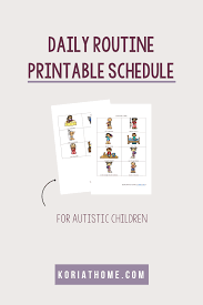 Daily Routine Printable Free Printable Daily Schedule For Children On The Autism