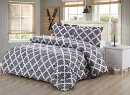 amazoncom printed comforter set (grey queen) with  pillow