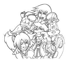 Small Picture Kingdom Hearts Coloring Pages Pinterest Cricut
