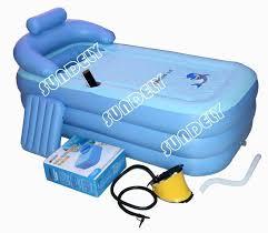 pvc folding portable bathtub inflatable bath tub air pump express ship uk