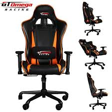 racing seat office chair uk. gt omega pro racing office chair black with orange leather racing seat office chair uk