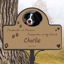 personalized pet memorial yard stake