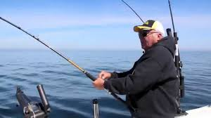 Trout And Salmon Fishing With Off Shore Tackles Magnum Tadpole Diver And Copper Line