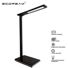 Ecdream Multifunctionele Unieke Tafel Led Lamp Qi Draadloze Opladen