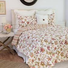 c f home white jacobean pink twin quilt set