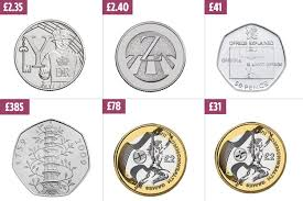 Coin Mintage Chart The Rarest 10p 50p 2 Coins Worth Up To 385