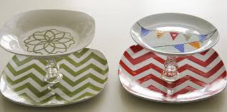 5 challenge 3 diffe dollar tiered tray ideas and a chevron stencil printable