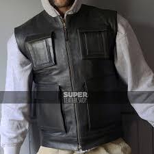leather vest biker smuggler han solo inspired perfect for harley riders jpg