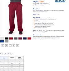 Gildan Open Bottom Sweatpants Size Chart Sweatpants Pockets Elastic Waist True To Size Apparel
