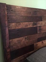 repurposed pallet rustic headboard