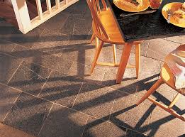 a vermont soapstone floor is light blue gray with subtle veining the oiled table