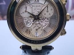 pierre balmain chronograph date plated quartz men 039 s watch rare collectible watch bid now its no reserve